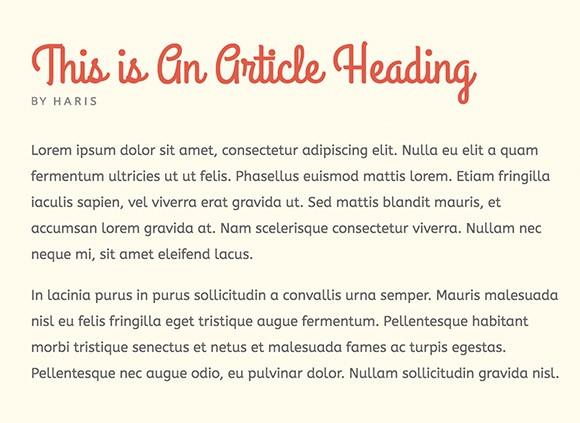 Lettertype website ABeeZee en Grand Hotel
