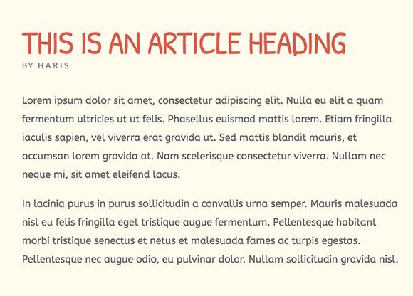 Lettertype website ABeeZee en Patrick Hand SC