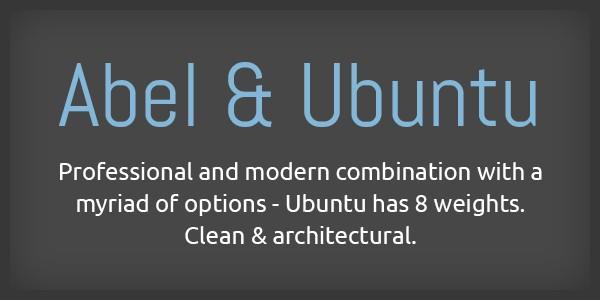 Lettertype website Abel en Ubuntu