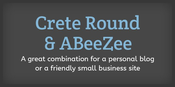 Lettertype website Crete Round en ABeeZee