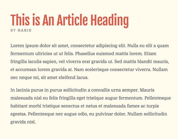 Lettertype website Domine en Fjalla One