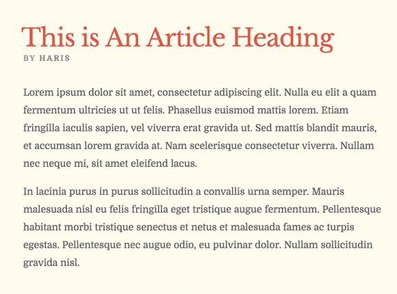 Lettertype website Domine en Libre Baskerville