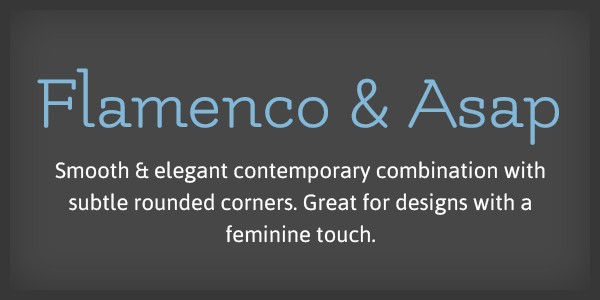 Lettertype website Flamenco en Asap