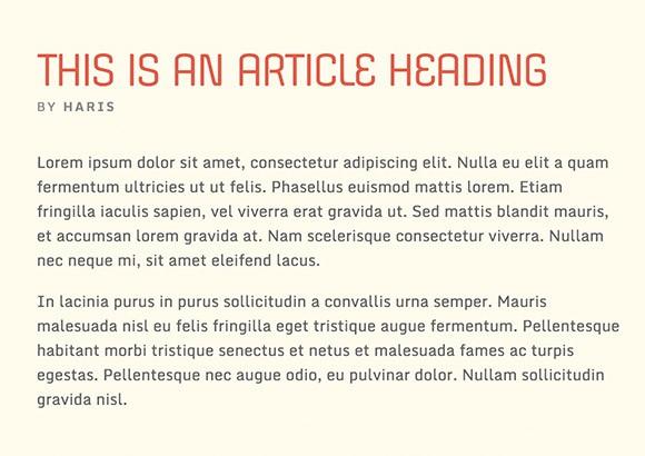 Lettertype website Monda en Offside