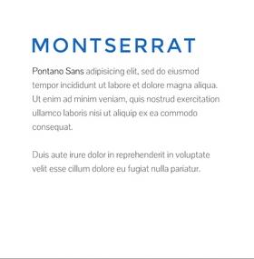 Lettertype website Montserrat en Pontano Sans