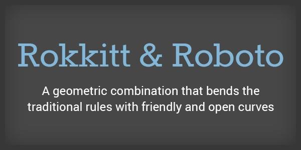 Lettertype website Rokkit en Roboto