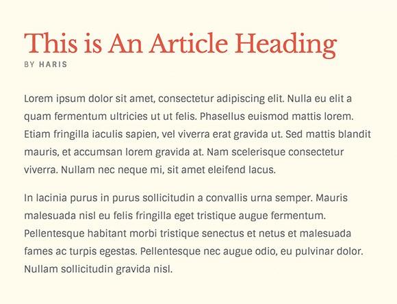 Lettertype website Sintony en Libre Baskerville