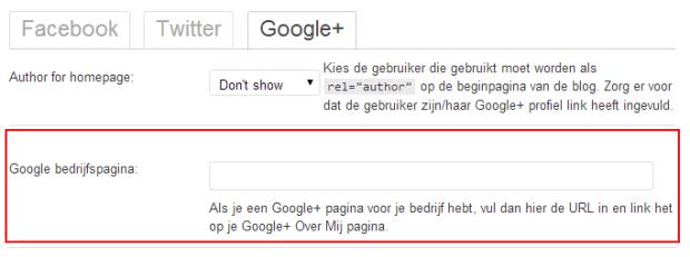 Google bedrijfspagina koppelen via WordPress SEO plugin