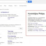 Google Knowledge Graph van Philips