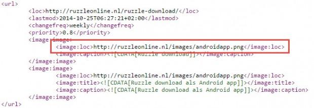 Afbeelding URL WordPress SEO XML Sitemap