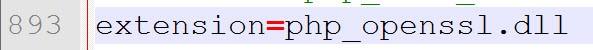 Uncomment extension php_openssl regel