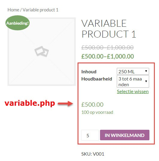 WooCommerce variable.php