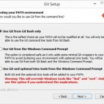 Git op Windows installeren Bash only