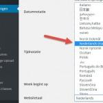 Nederlands (Formeel) in WordPress